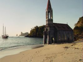 Church on beach by everlite