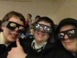 Me and my mad friends before seeing Hugo 3D by weEgestor