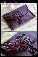 Purple Pomp purse by Faeriedivine