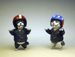 Vroom vroom biker kitty painted by Switchum