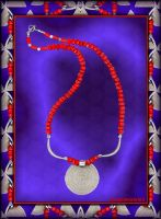 TRIBAL SUN SIGN COLLIER by Voodoomamma