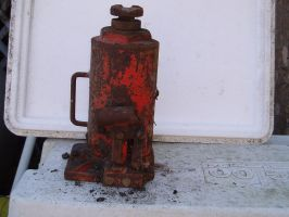 Rusted Htdralic Jack by nitch-stock