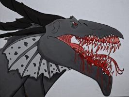 Sauros: The grin of death- Color by Saberrex