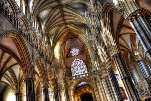 Lincoln Cathedral Arches by nat1874