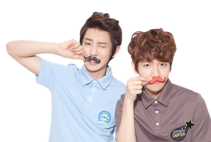 PNG: EXO moustache by chazzief