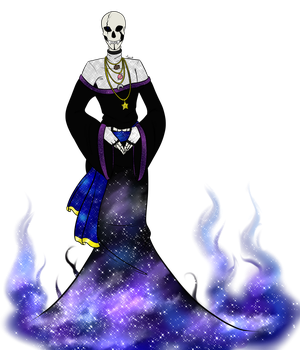 Outertale Gaster by LordBlumiere