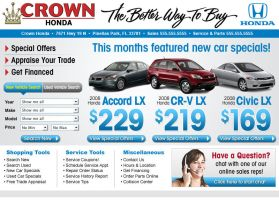 Crown Cars Home Page Design by xstortionist