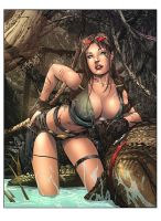 Tomb Raider (photo souvenir) Colors by nahp75
