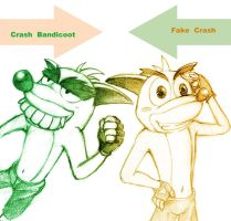 CRB: Crash  and  Fake Crash by sanada-number09