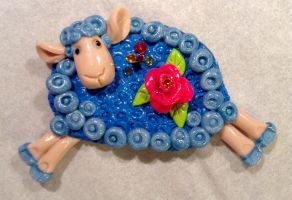 Magnet. Sheep. Symbol of 2015 year by Craft-NSY