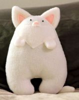 White Cat Plush by JanellesPlushies