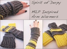 Spirit of Derpy - MLP Inspired Crochet Arm Warmers by KariOhki