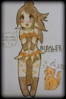 NIDALEE - The Bestial Huntress Chibi by ii-ris-chan