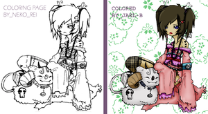Coloring Page By Neko_Rei by jael-b
