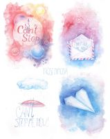 CNBLUE Can't stop MV inspired watercolours by FrostMimosa