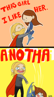 THOR LIKES by tomokossenpai