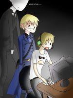 pewdiepie slenderman and sweden by draw4you1995