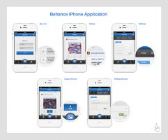 Behance iPhone Application by Czarny-Design