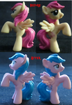 Before and After: Fluttershy to Firefly by FelidaeSilvestris