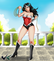Commission : Wonder Woman by jadenkaiba