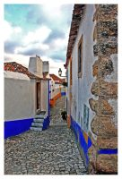 Street in Obidos by Garelito-Photos