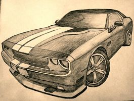mustang in pencil by jaro3001