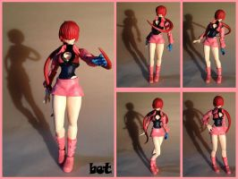 shermie custom action figure by butbot
