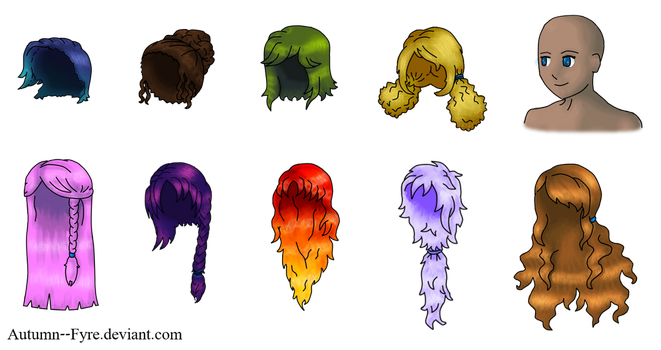Girls' Hair (Free Use) by Autumn--Fyre