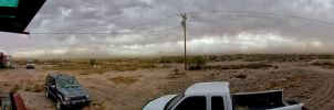 Panoramic view of a storm coming in by whendt