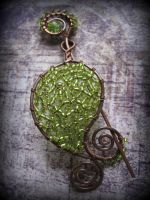 Peridot Green Shawl Pin by Lirimaer86