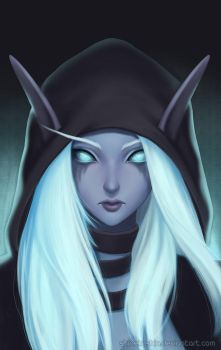 Nightelf Portrait by shinekoshin