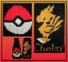PokeBall and Chocobo Scarfs by MadMouseMedia