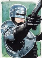 Robocop Sketch Card by Straycatstudio