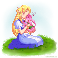 LOZ - Bunny Nose Kisses by Ferisae