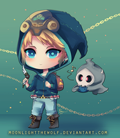 Chibi Trainer Link by MoonlightTheWolf
