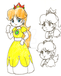 Ugly Doodle in Color: Princess Daisy by The-PirateQueen