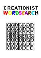 Creationist Wordsearch by TomRFoster
