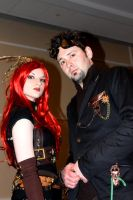 Steampunk Couple 2 by PrototypeVX2