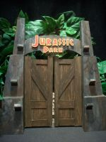 Jurassic Park Gate by pink12301