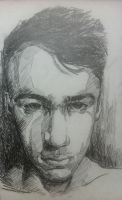 Self-Portrait in Pencil by SamSquared
