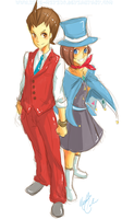 apollo justice : apollo+trucy by Kite-Mitiko