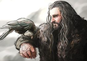 Thorin and the Raven by SeraphimCrystal