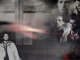 Knockin on heavens door Cas by LyraWhite
