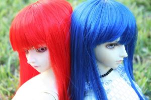Red and Blue 3 by CrossdressingKuja