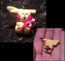 Pikachu and Ketchup Love Charm by FallenAngelKrisi