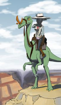 cowboyDino 02 by weird-one