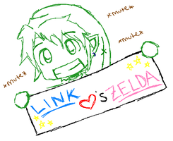Link Hearts Zelda by AnonymousNavi