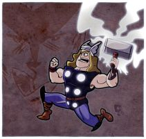 God of thunder by CartumanBrasil