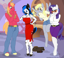 [Commission] Rendezvous at the Boutique by Dan-Fortesque