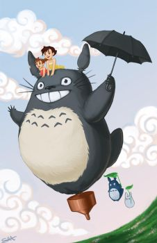 Totoro Fanart Commission by shinigamiwings